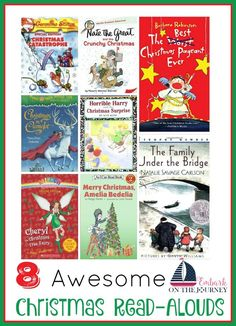 Get your kids in the holiday spirit with these awesome Christmas read-alouds! | embarkonthejourne...