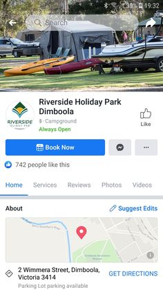 Holiday Park, Camping Spots, Open Book, Parking Lot, Get Directions, People Like, Photo And Video, Parking Space