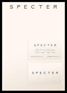 SPECTER stationary by the talented Mr. David Rudnick