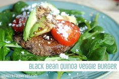 Black Bean Quinoa Veggie Burgers - Fit Foodie Finds