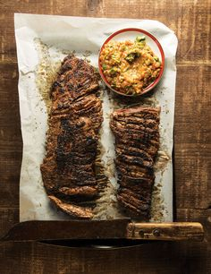 Grapefruit and Habanero Skirt Steak with Grilled Tomato Salsa