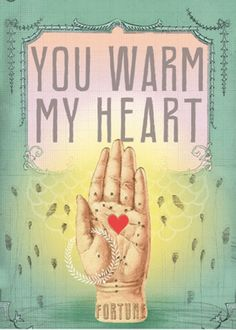 """You Warm My Heart"" greeting from Papaya is a sweet eco-friendly card that is sure to brighten a loved one's day. It is filled with artistic details and graphic"