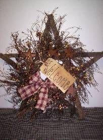 Twig Star Primitive Wreath