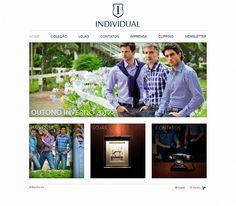 Site conceito desenvolvido para a marca Individual, da Dudalina S/A. O visual é diferente dos demais sites da marca por conta do público que deseja atingir. Disponível em inglês e espanhol também.