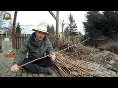 Gartenzaun mit Haselnuss flechten - YouTube