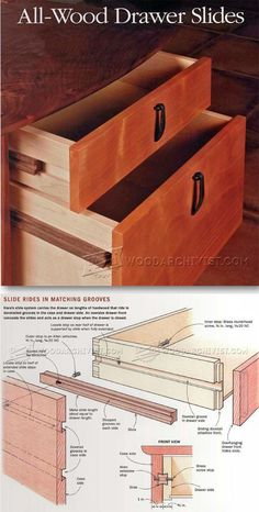 DIY Wooden Drawer Slides - Drawer Construction and Techniques | WoodArchivist.com