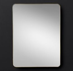 """LUCENT MIRROR $745 - $1445 $558 - $1083MEMBER The simple, clean silhouette of our low-profile frame is subtly highlighted by its polished finish – showcasing the luminous clarity of the looking glass itself.  SHOW DETAILS +  DIMENSIONS 30""""W x 40""""H, 57 lbs. 24""""W x 80""""H; 84 lbs. 36""""W x 48""""H; 75 lbs. 42""""W x 70""""H; 123 lbs.  RH Modern"""