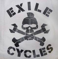 Exile Cycles - Russell Skull - light charcoal Workshirt Charcoal, Cycling, Skull, Classic, T Shirt, Clothes, Collection, Color, Derby
