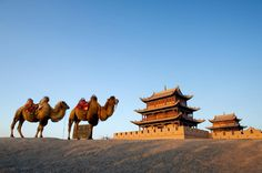Jiayuguan (嘉峪关), the western starting point of the Ming Dynasty's portion of the Great Wall, is located 5 kilometers from Jiayuguan City, Gansu Province. via FB by Discover China