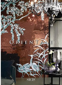 Sicis orientale mosaic collection. reflective/mirrored glass mosaic
