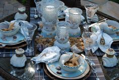 More Loggerhead Love Tablescape | ©homeiswheretheboatis.net #beach #tablesetting #turtle