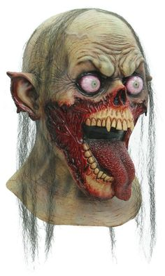 Tongue Slasher Zombie Halloween Mask