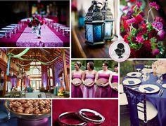 a purple, blue, and fuschia, jewel-toned wedding