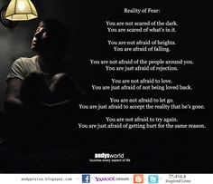 Reality Of Fear..