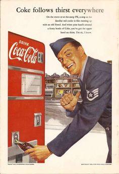 old vintage coca cola poster
