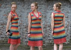 Even though this Dress (not pattern) is for sale from Prestige Knits, I thought it was cute inspiration!