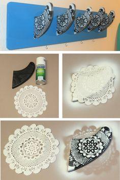 DIY Mandala mit Häkeldecke | Finnen Dekoration | Upcycling