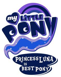 Fanart - MLP. My Little Pony Logo - Princess Luna by jamescorck on deviantART