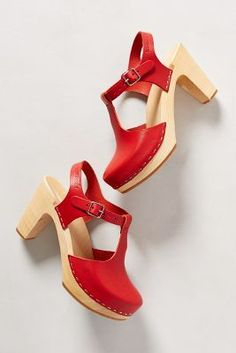 Sky High T-Strap Clogs by: Swedish Hasbeens @Anthropologie (US)