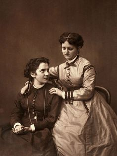 :::::::::: Antique Photograph :::::::::: My sister, my comforter, my friend. France c. 1870