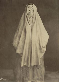 woman in burqa, Felix Bonfils