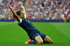 US midfielder Carli Lloyd celebrates scoring a goal during the final of the women's football competition of the London 2012 Olympic Games on August 2012 at Wembley stadium in London. Usa Soccer Team, Us Soccer, Soccer Tips, Play Soccer, Soccer Players, Nike Soccer, Soccer Cleats, Solo Soccer, Morgan Soccer