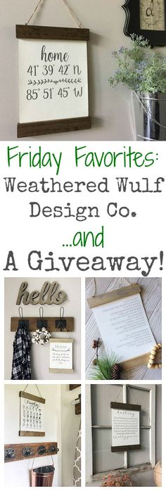 Love, love, love these wood and canvas signs from Weather Wulf! Discount code and giveaway this month (December 2017)