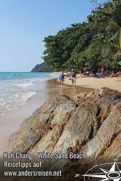 Koh Chang - White Sand Beach. Der Strand auf der Insel Koh Chang in Thailand ist ein beliebtes Urlaubsziel für den Winterurlaub in der Sonne. Reisetipps & Inspirationen im Blog. #visitthailand #thailand #kohchang #winterurlaub #suedostasien Koh Chang, White Sand Beach, Asia, Wanderlust, Water, Travel, Outdoor, Budget, Live