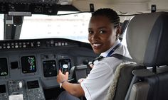 Rwanda's first female pilot, Esther Mbabazi, 24, said 'being a pilot really was my childhood dream'. Photograph: Sean Jones for the Guardian...