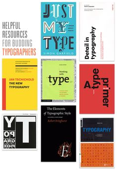 nine helpful books for budding typographers (from: it will always be kitsune noir to me)