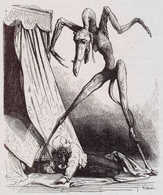 "From the ""Dictionnaire Infernal"" by  Collin de Plancy. Illustration by Louis Le Breton."