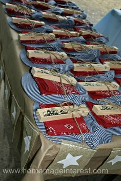 Home. Made. Interest. | All Aboard the Choo Choo Train Birthday Party | http://www.homemadeinterest.com | Train party favors. #favors