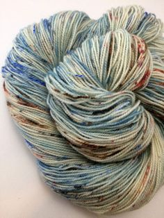 "80/20 SW BFL/Nylon hand-dyed Speckled Sock Yarn - 400yds ""Winter Jay"""