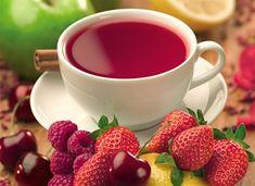 chá de frutas do bosque.