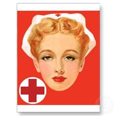 Vintage Nurse Post Card by tnmpastperfect