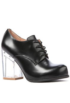 Jeffrey Campbell Shoe Bravery in Black and Clear