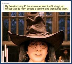 """""""That's why the hat is so big, it's full of secrets"""" #MeanGirlsIsNeverNotAppropriate #MeanGirls #HarryPotter"""