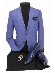 Blue Blazer Outfit Men, Mens Casual Dress Outfits, Mens Casual Suits, Mens Fashion Blazer, Mens Attire, Suit Fashion, Cool Suits, Men's Suits, Tom Ford Suit