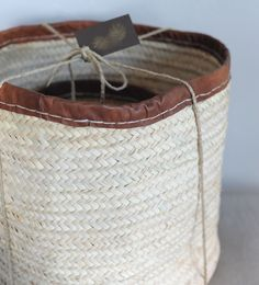 Kenyan baskets with leather binding from Olmay Home