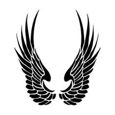 Brand New Tribal Wings 2 Sticker and in stock. High glossy finish, cut from premium 3 mill vinyl, with a life span of 5 - 7 years. Body Art Tattoos, Tribal Tattoos, Eagle Wing Tattoos, D N Angel, Tribal Wings, Mystic Symbols, Wing Tattoo Designs, Eagle Wings, 3d Max