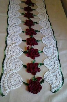 crochet lace tape tape lace as table runner - PIPicStatsCrochet Doilies And Mandalasno pattern just for inspiration - PIPicStatsAutor Serwetki Basia P 2015 Crochet Lace Scarf, Crochet Dollies, Crochet Doily Patterns, Filet Crochet, Crochet Yarn, Crochet Flowers, Crochet Stitches, Knitting Patterns, Free Knitting