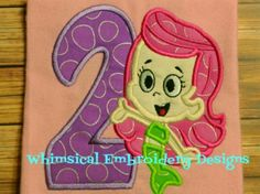 Molly Bubble Guppies with Numbers 1-9 Machine Embroidery Design INSTANT DOWNLOAD