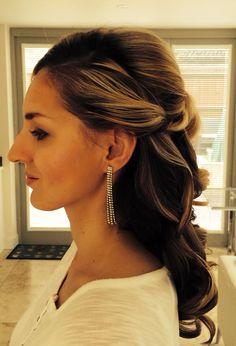 Wedding hair#half up half down hair style#