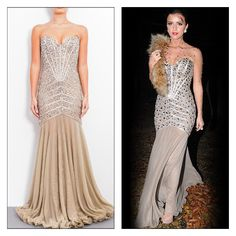 564938b82e80 Lucy Mecklenburgh dazzles in the stunning  Sparkle  dress in taupe. Forever  Unique