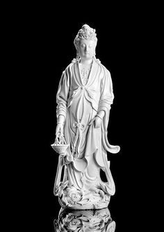A very large Dehua model of standing Guanyin by Xu Youyi (1887-1940), China, marked xu yuyuan zhi, late Qing-Republic period