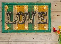 30% OFF SALE Light up 'Love' Sign. Love Sign/fairground lights/circus lights/marquee lights/vintage sign/retro sign/wooden sign/circus sign/ - £203.00 GBP