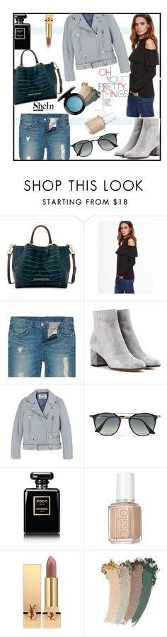 """""""Pretty Things by SheIn"""" by jckallan ❤ liked on Polyvore featuring Dooney & Bourke, Gianvito Rossi, Acne Studios, Ray-Ban, Chanel, Essie, Yves Saint Laurent, Gucci and MAC Cosmetics"""