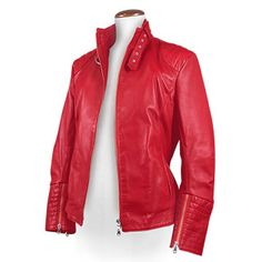 Womens leather jacket custom made style 932NL image