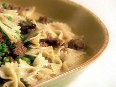 Farfalle with Turkey Sausage, Peas and Mushrooms recipe from Giada De Laurentiis via Food Network