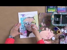 Learn to Paint Artistic Faces with Dina Wakley - YouTube